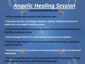 Angelic healing session